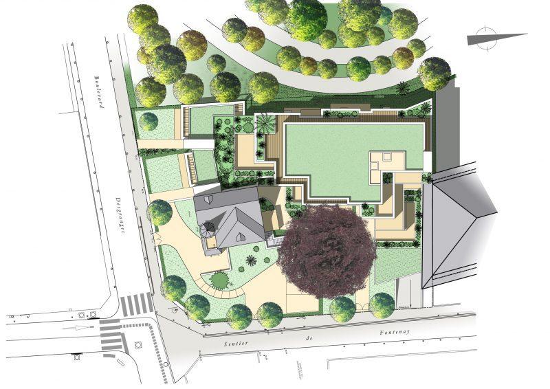 Plan des toitures. La construction neuve s