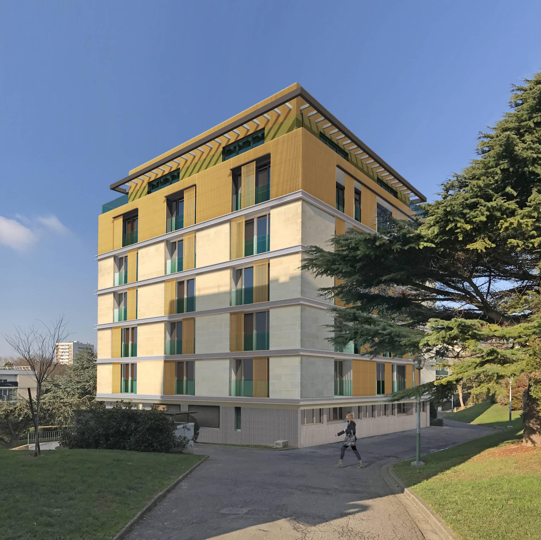 Immeuble avec surélévation en bois